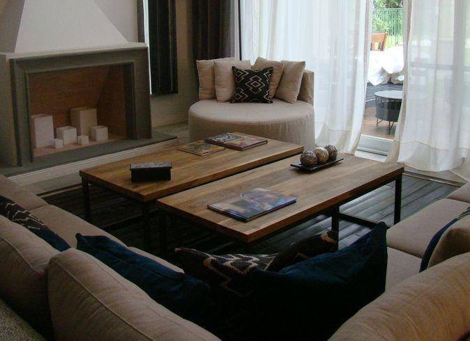Decoración residencial Mezclando texturas, panas, linos, madera y