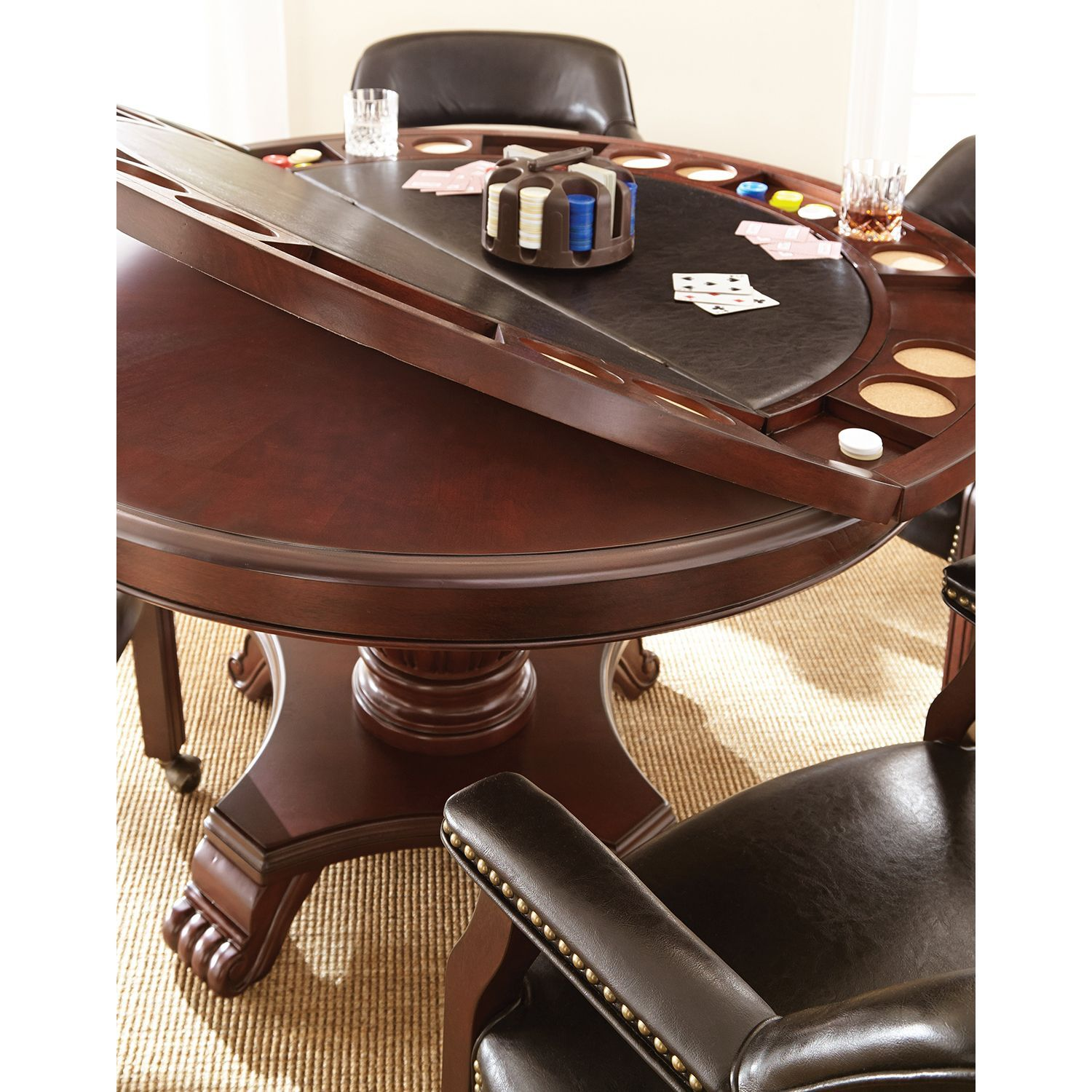 Talley Dining And Game Table Set Choose Black Or Brown