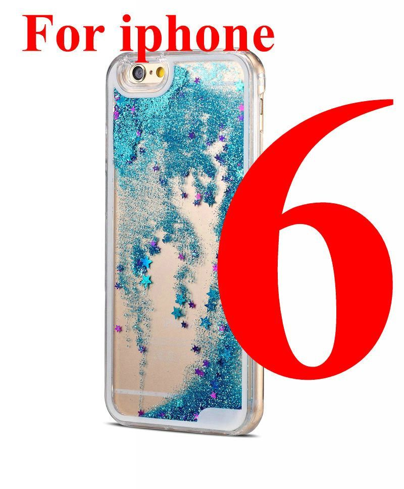 Capinha For i Phone 4 4s 5 5S 6 6 Plus Coque Luxury Bling Clear Fundas Liquid Sand Transparent Quicksand Star Case For i Phone 6