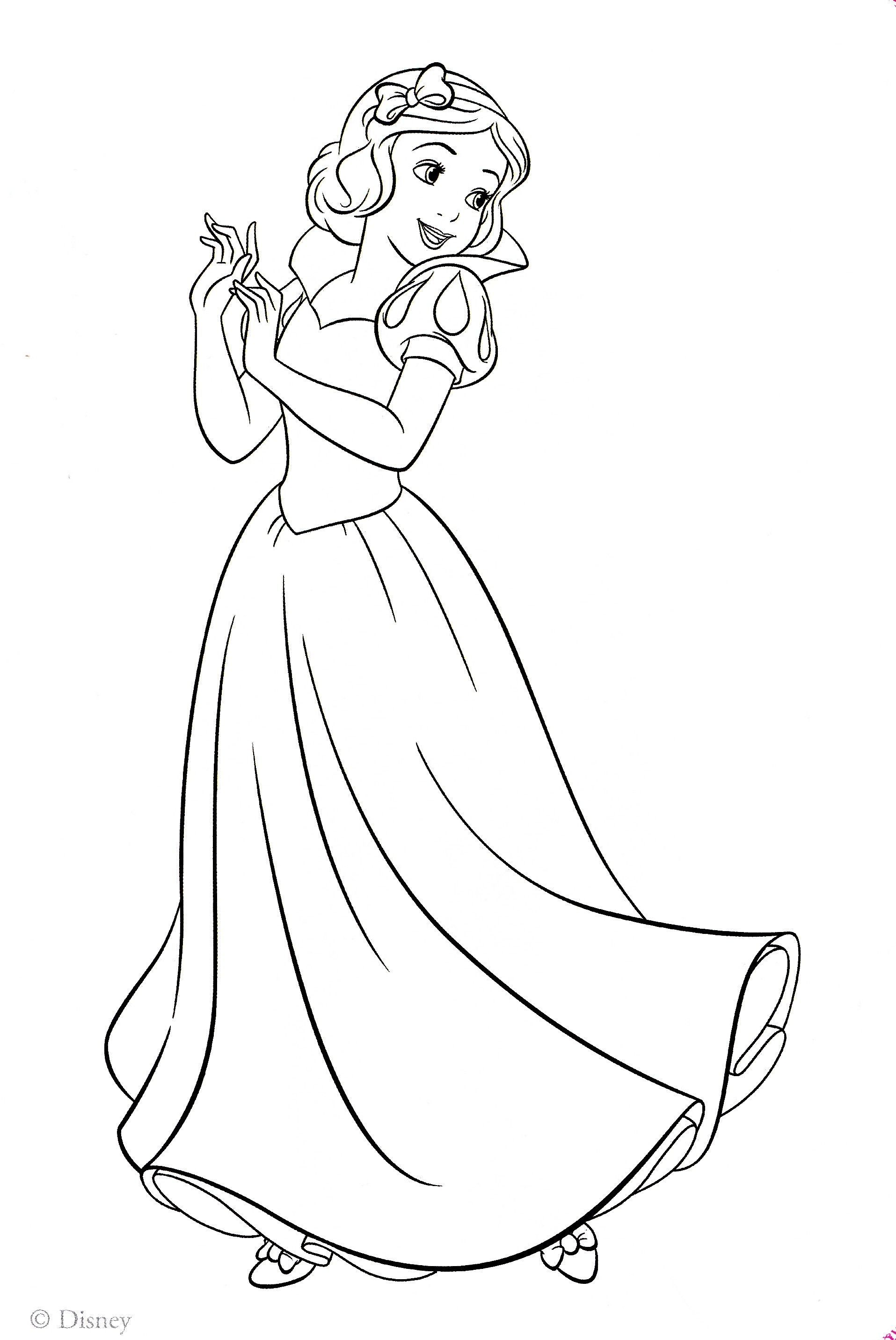 Coloring Pages Princess Snow White Snow White Coloring Pages