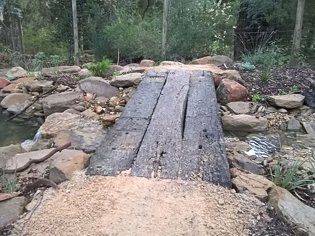 railway sleeper bridge