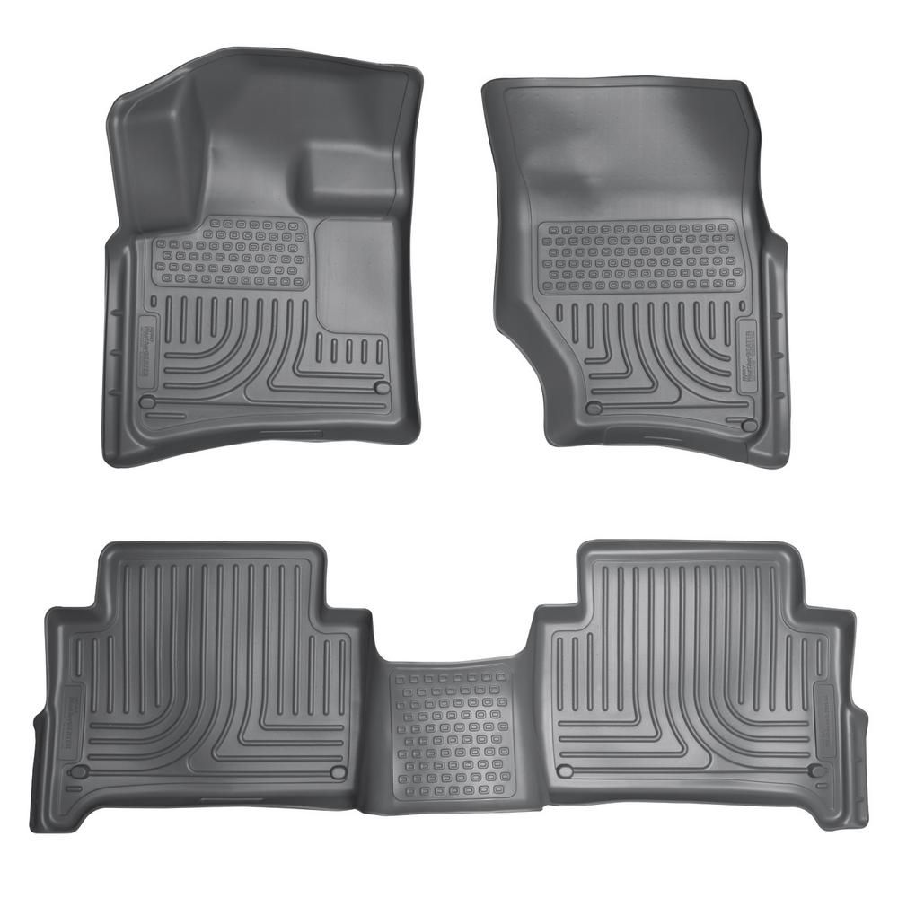 Husky Liners Front 2nd Seat Floor Liners Fits 07 15 Audi Q7 Bench Seats Car Interior Design Camaro Coupe Husky