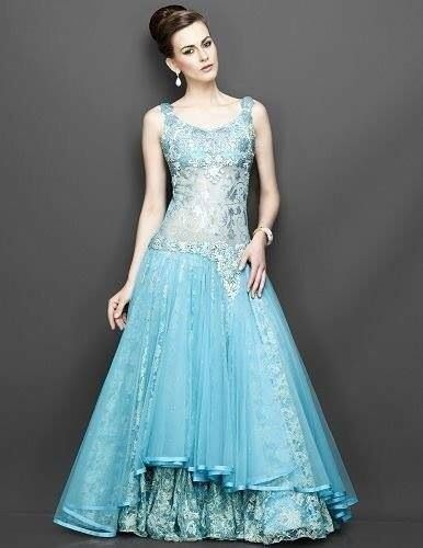 indo blue mother of the bride dresses