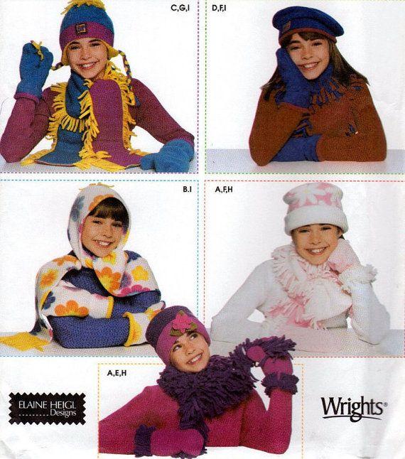 WINTER GEAR Sewing Pattern - Fleece Hat Scarf Mittens | SEWING ...