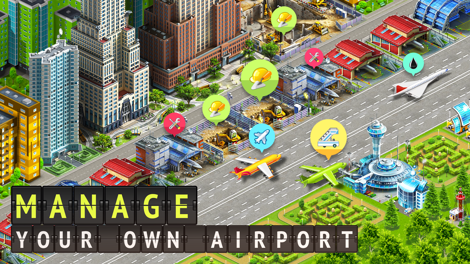 Apk Airport City In 2020 City Hacks Free Games Game Codes