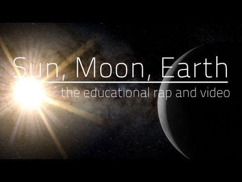 Educational Sun, Moon, Earth Rap! (with lyrics) - great clip!