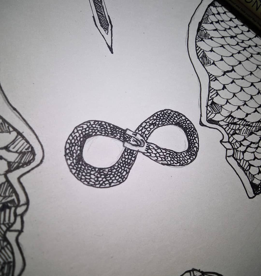 The Ouroboros Symbol [ A Snake eating itself ] in the