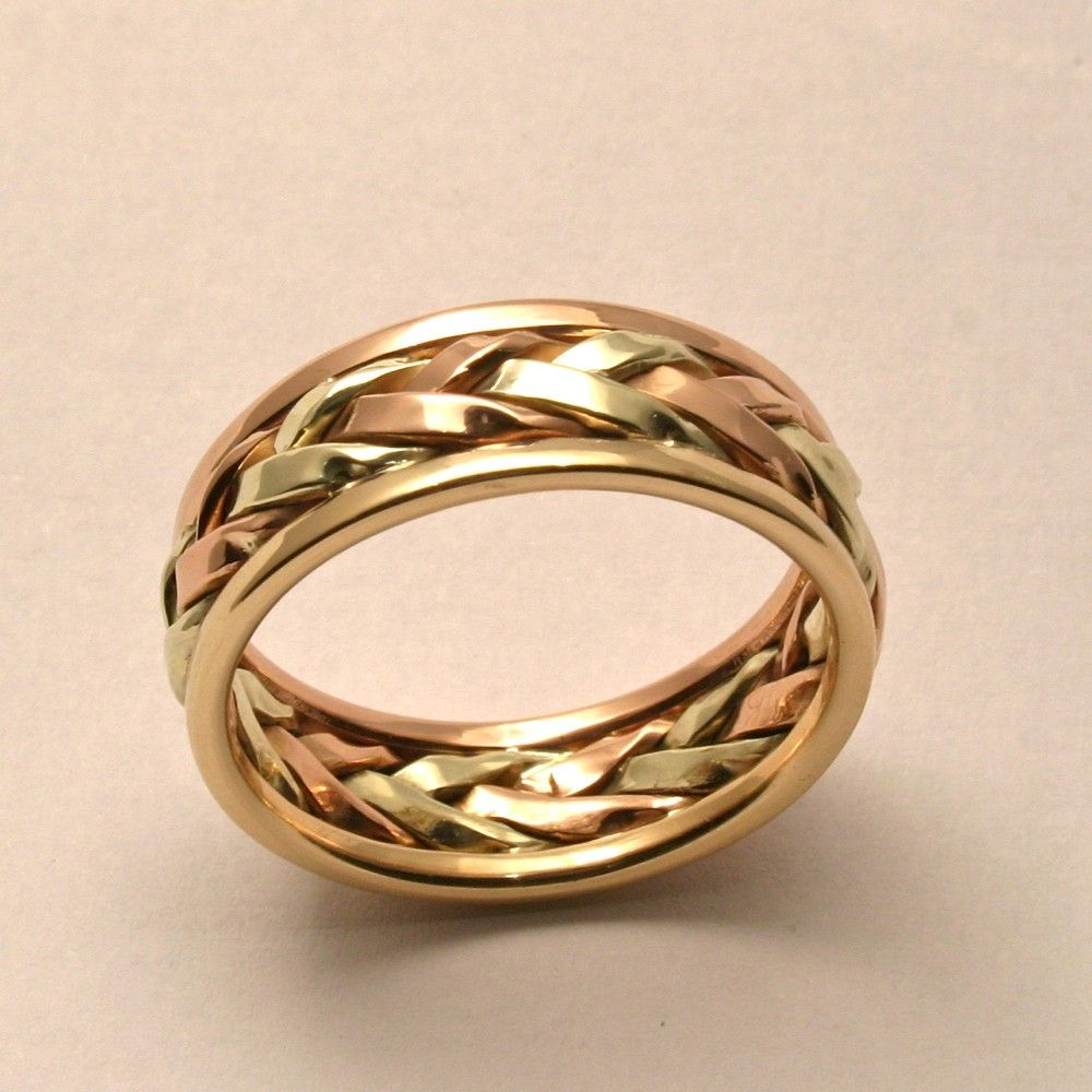 braided in gold mens large wedding band by harvestgoldjewelry 89500