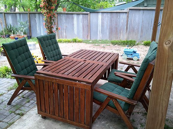 Outdoor furniture · How to Restore Dry, Faded Wooden ...