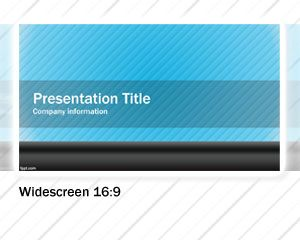 this free blue widescreen powerpoint template is a free widescreen
