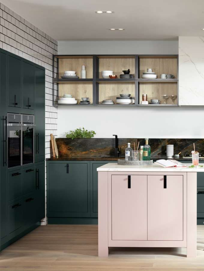 Best Life Kitchens Pastel Pink Island To Balance The 640 x 480