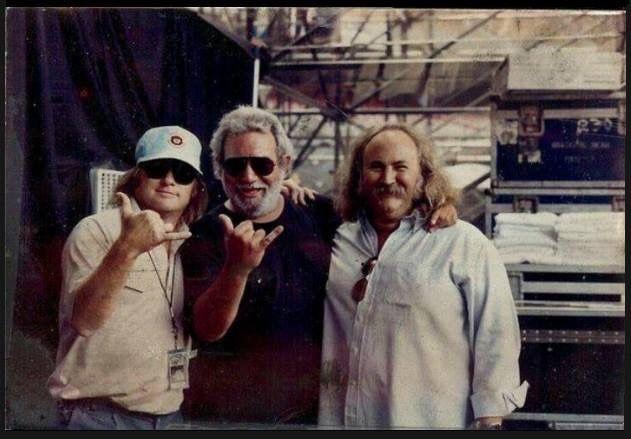 Stephen Stills, Jerry Garcia and David Crosby