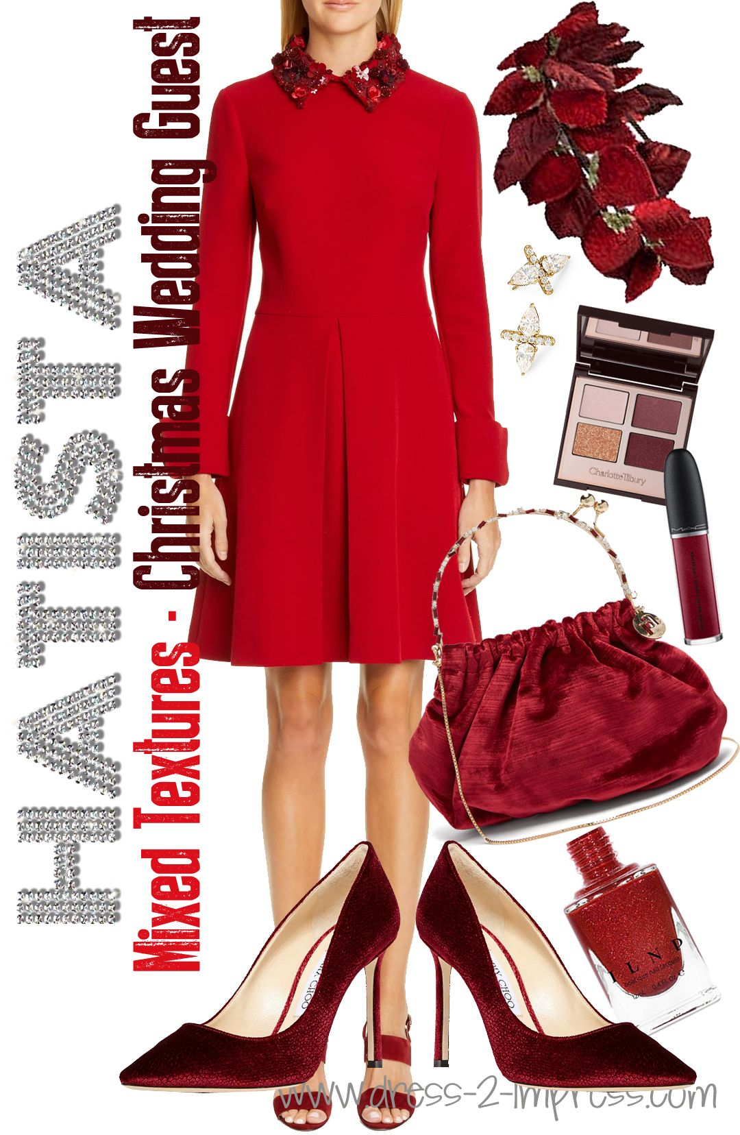 You Guest it! Red for Christmas wedding Guest. Winter