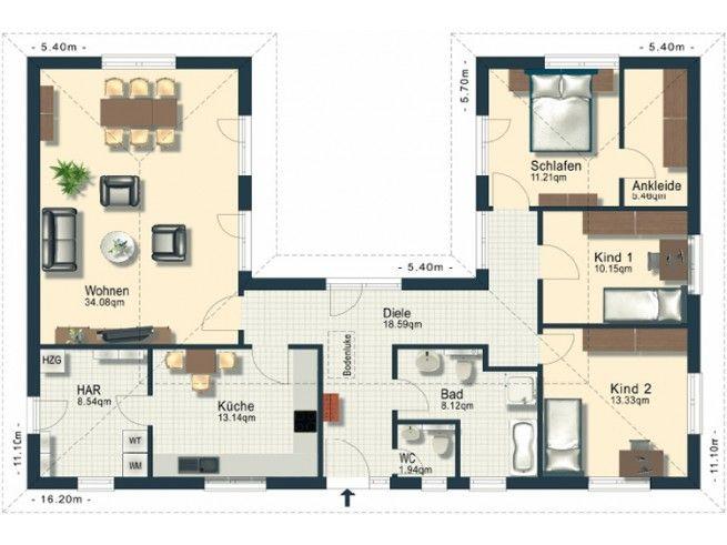 grundriss eg hauspl ne pinterest grundrisse h uschen grundrisse und grundriss bungalow. Black Bedroom Furniture Sets. Home Design Ideas
