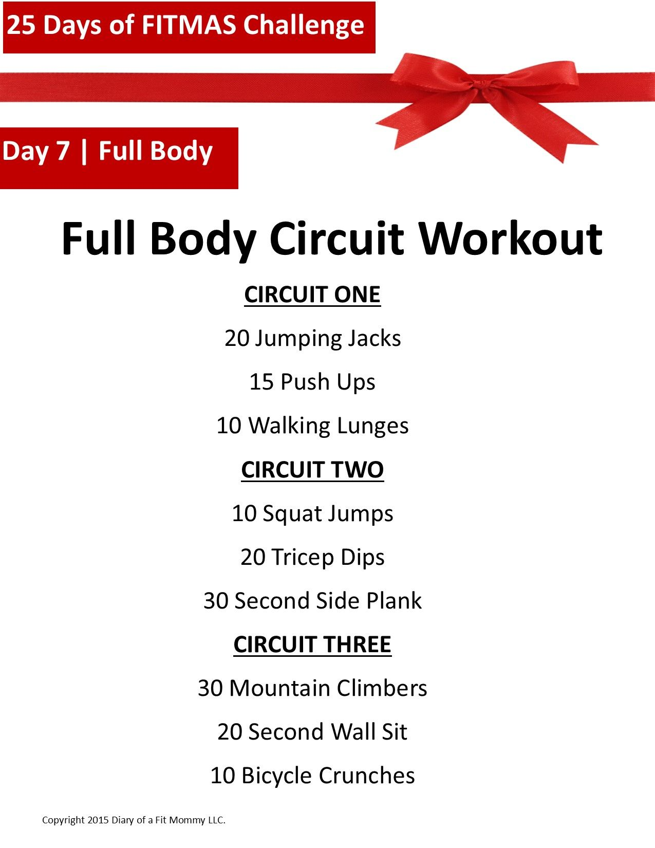 25 Days Of Fitmas Workout Challenge Day 7 Fitness Pinterest The Basic Circuit Training We Did Today Diary A Fit Mommy