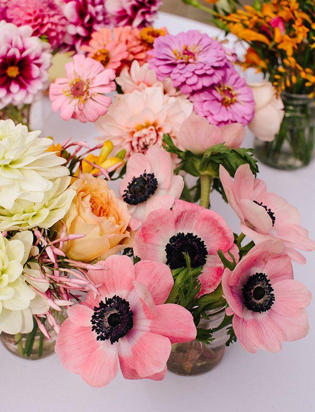 Flower filled berkley wedding sara gordon flowers wedding a sea of pretty flowers like pink anemones mightylinksfo