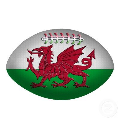 rugby ball wales flag ornament photo cutouts from. Black Bedroom Furniture Sets. Home Design Ideas
