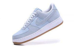 the best attitude 37a02 58dd4 Mens Womens Nike Air Force 1  07 Light Armory Blue White Gum Light Brown  315122