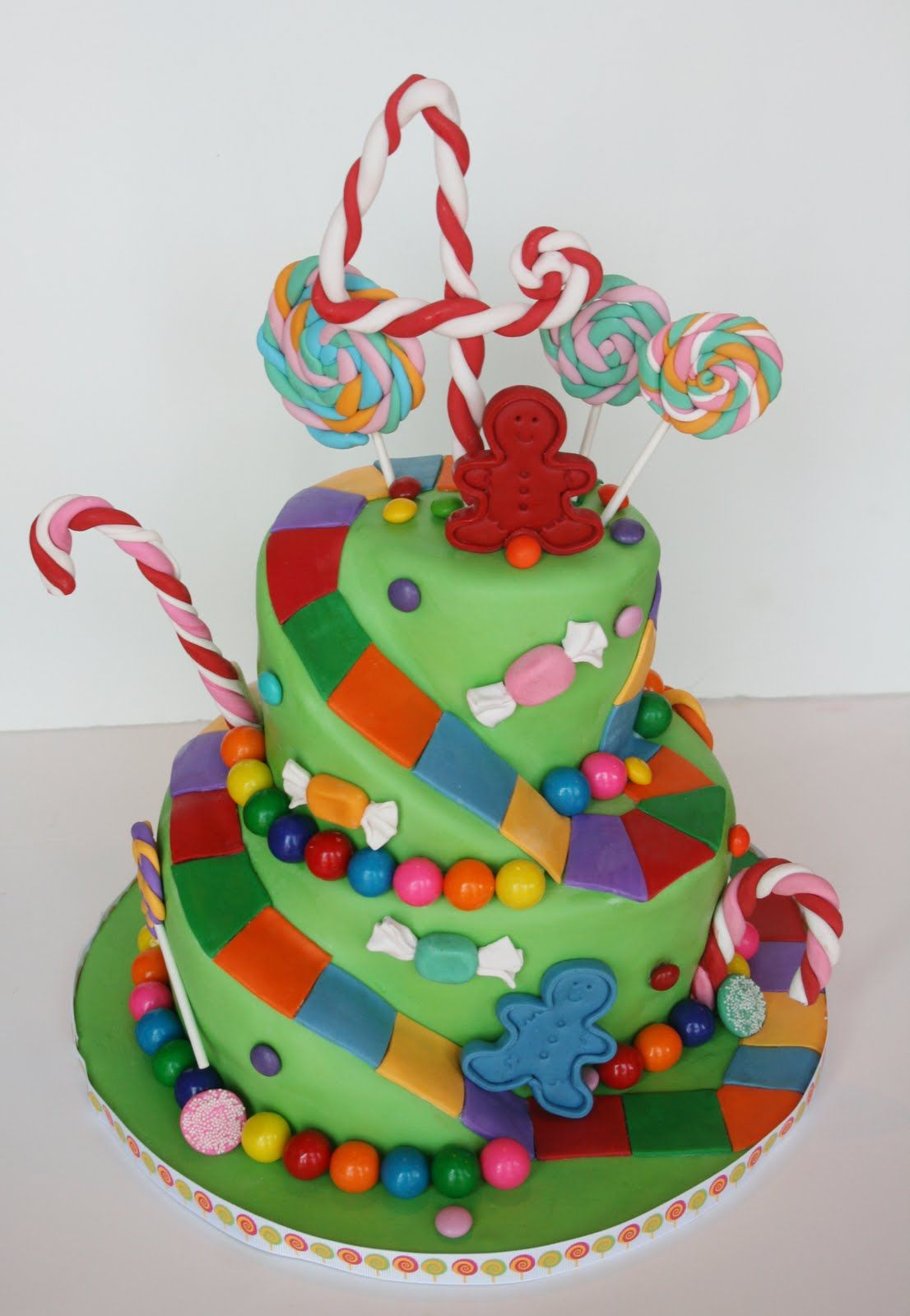 candy land cake candyland birthday on bag tag land and 2437
