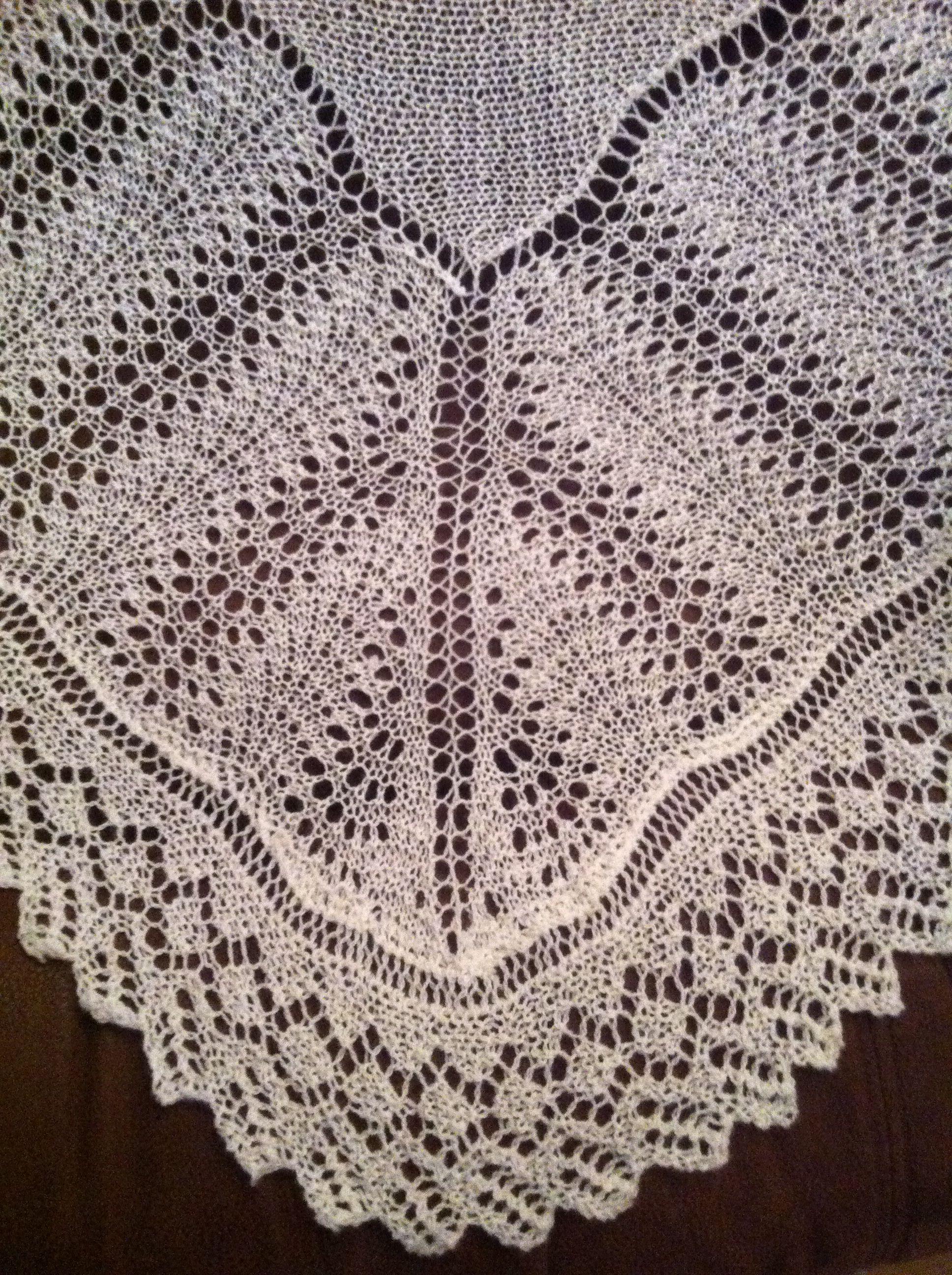 Shetland 'Old Shale' 2ply baby shawl | Knitting ...
