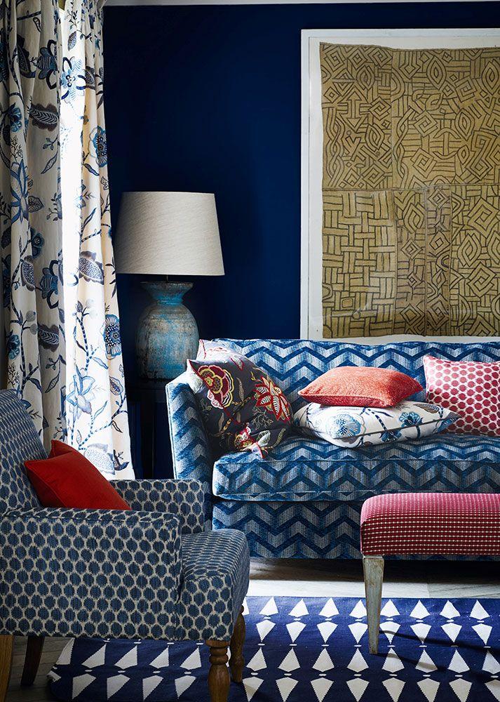 Fabric Finds Jane Churchill Design Blue Interior Decor