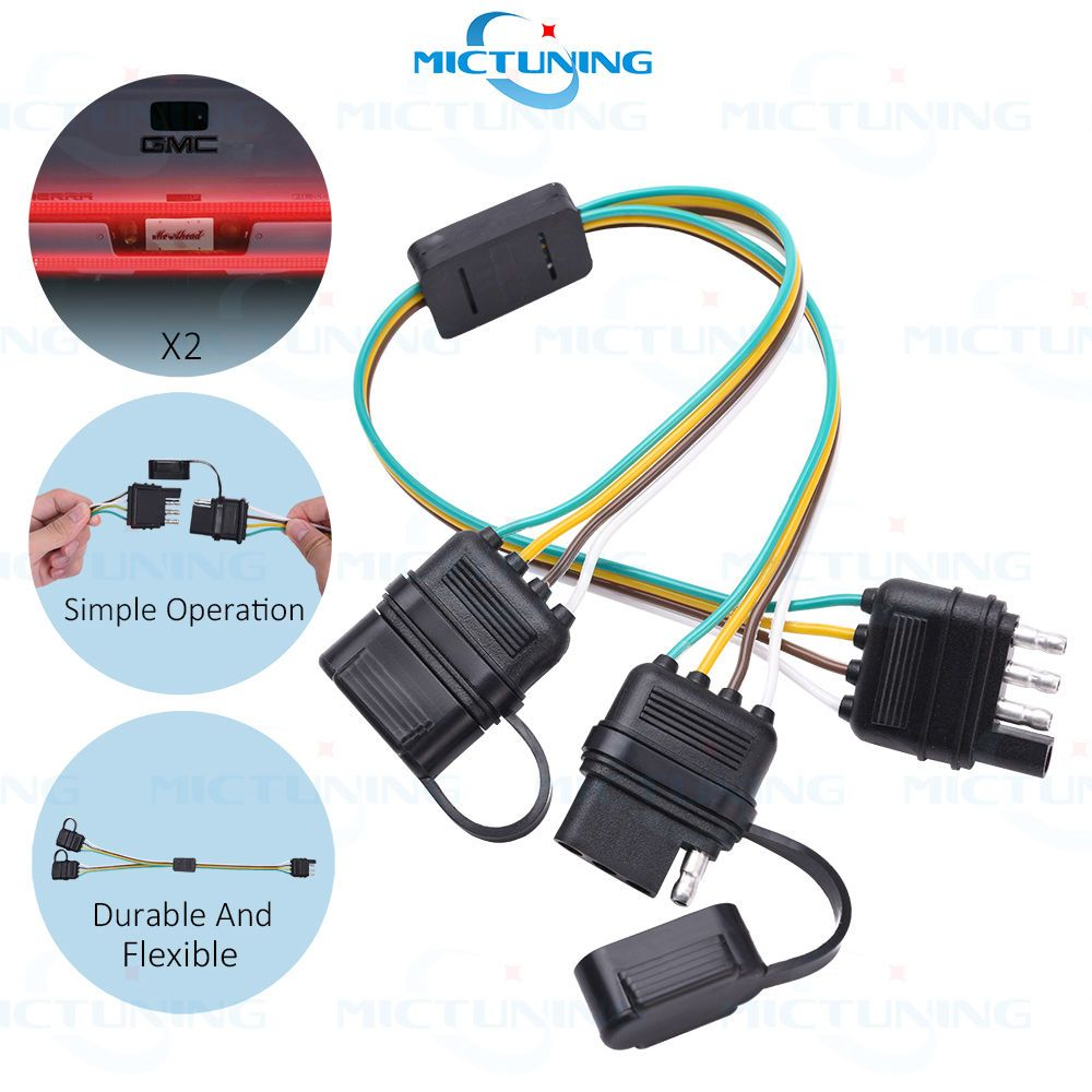 trailer splitter way pin y split wiring harness adapter for trailer splitter 2 way 4 pin y split wiring harness adapter for led tailgate