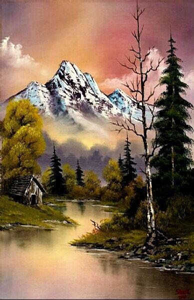 Pin By Dorothy Fratoni On Magic 3 Bob Ross Paintings Landscape Paintings Bob Ross Art