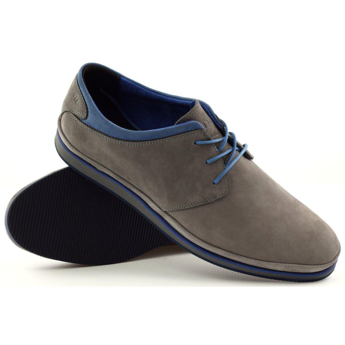 Polbuty Meskie Sportowe Badura 3363 Niebieskie Szare Gents Shoes Dress Shoes Men Mens Casual Shoes