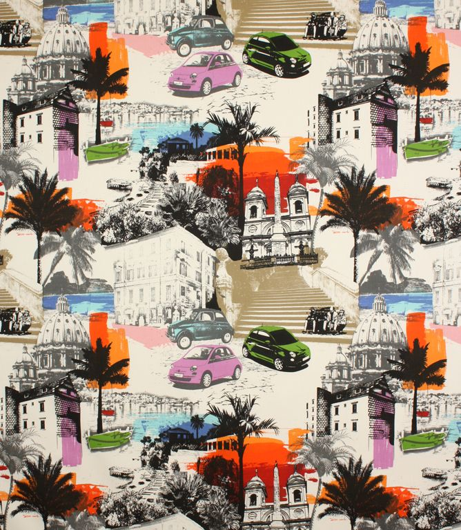 Funky, bright contemporary fabric! http://www.justfabrics.co.uk ...