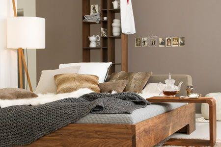 Farbe Grau, Grün, Braun - Wohnen Und Einrichten Mit Naturfarben ... Schlafzimmer Farben Grau Braun
