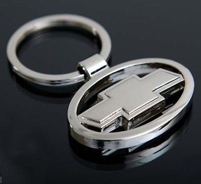 Chevrolet 3d Chrome Car Key Ring Keyfob Key Chain Uk Seller