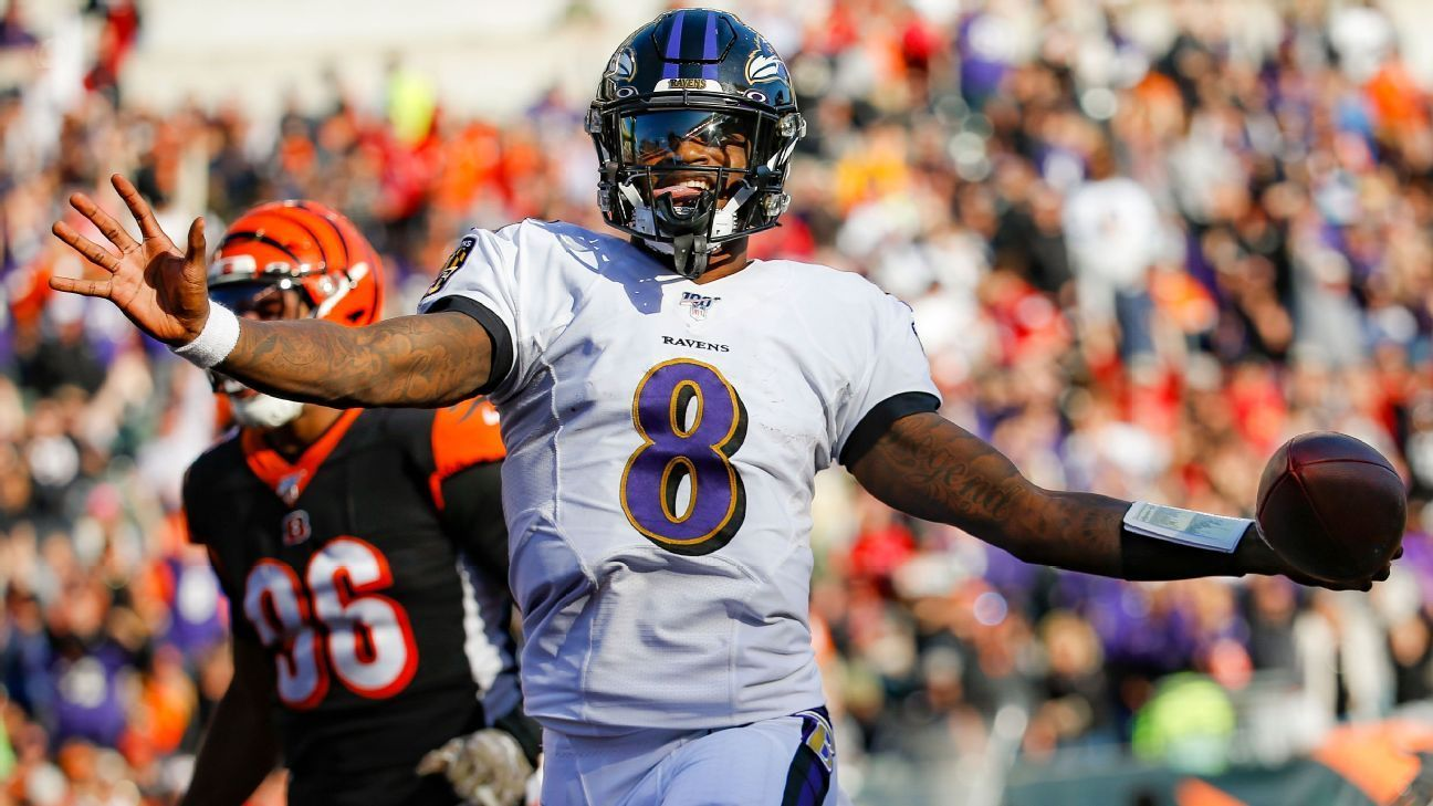 The Espn Daily Lamar Jackson Triumphant The Rivalry That Never Was And An Esports Phoenix Rising Lamar Jackson Fantasy Football Nfl Stats