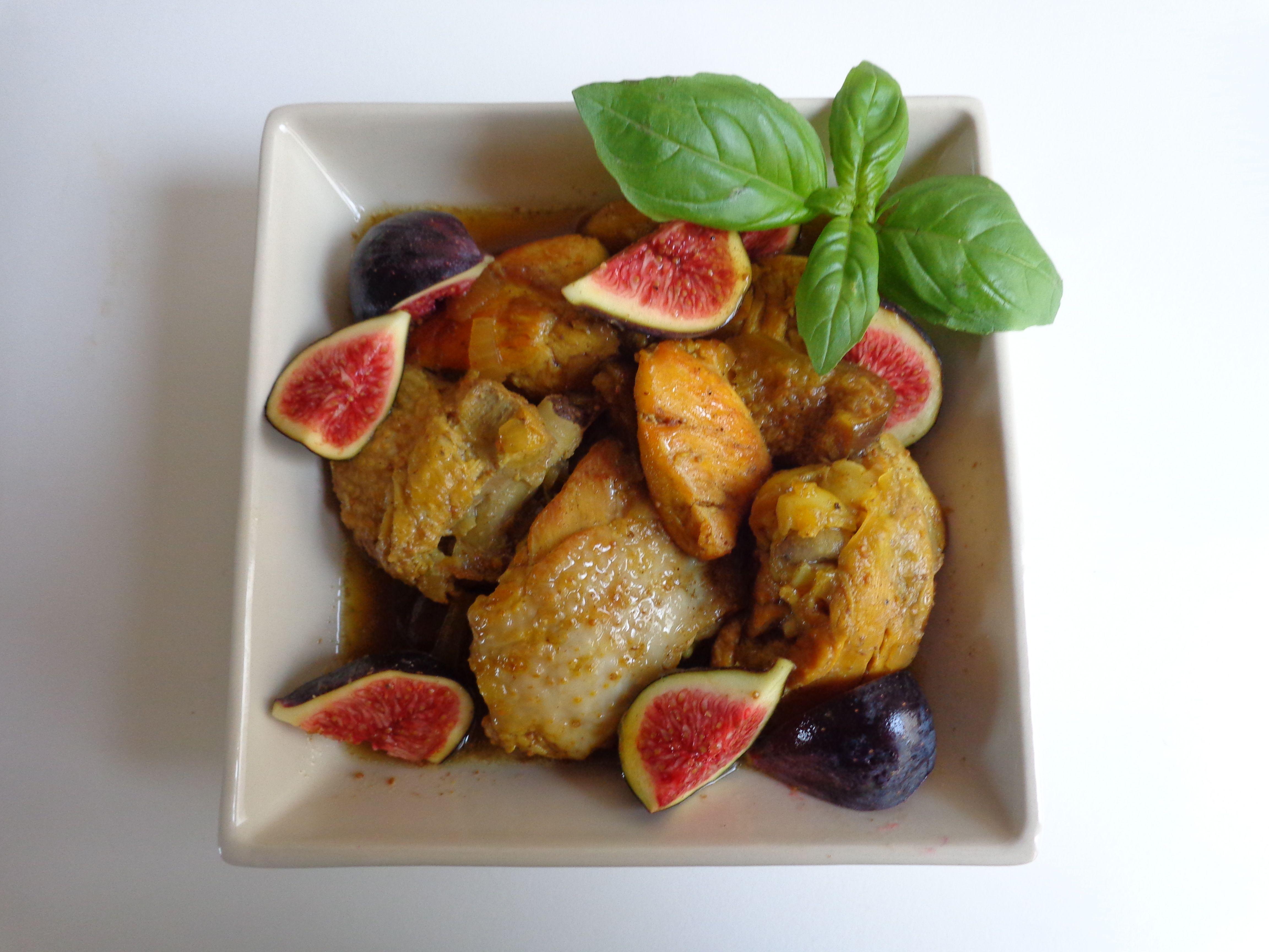 Chicken with fresh figs