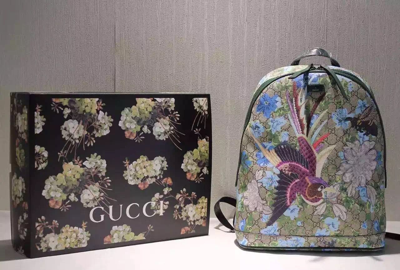 a4845c81310a Gucci 419584 GG Floral Print Backpack SS 2016