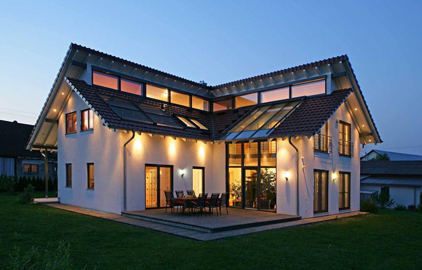 Bilder Häuser haus wiesenweg nacht 01 jpg 825 528 pixel architecture
