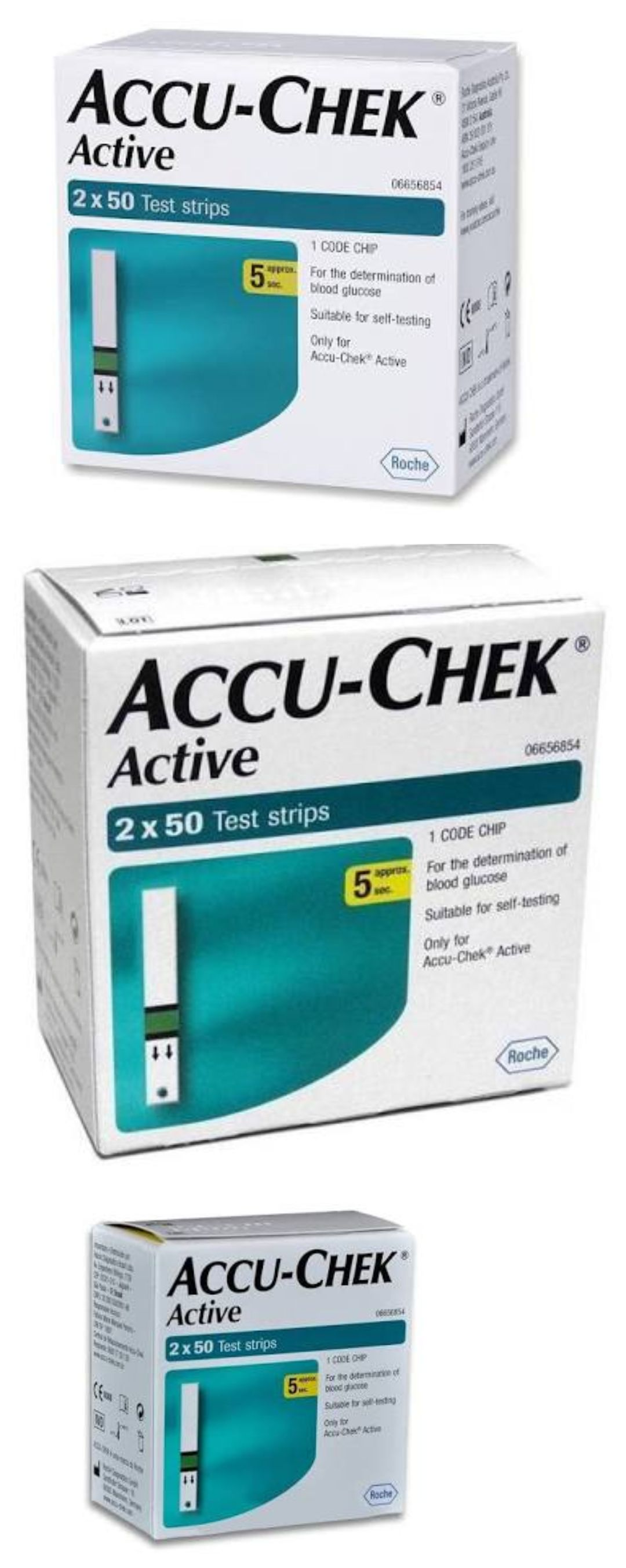 Accu Chek Active Glucose Test Strips 100 300 500 1000 1500 Strip Check Roche Monitoring Kits 72876 Buy It Now Only 2399 On Ebay
