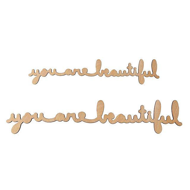 letters in cursive 3 foot you are beautiful cursive wood buy for home 12305