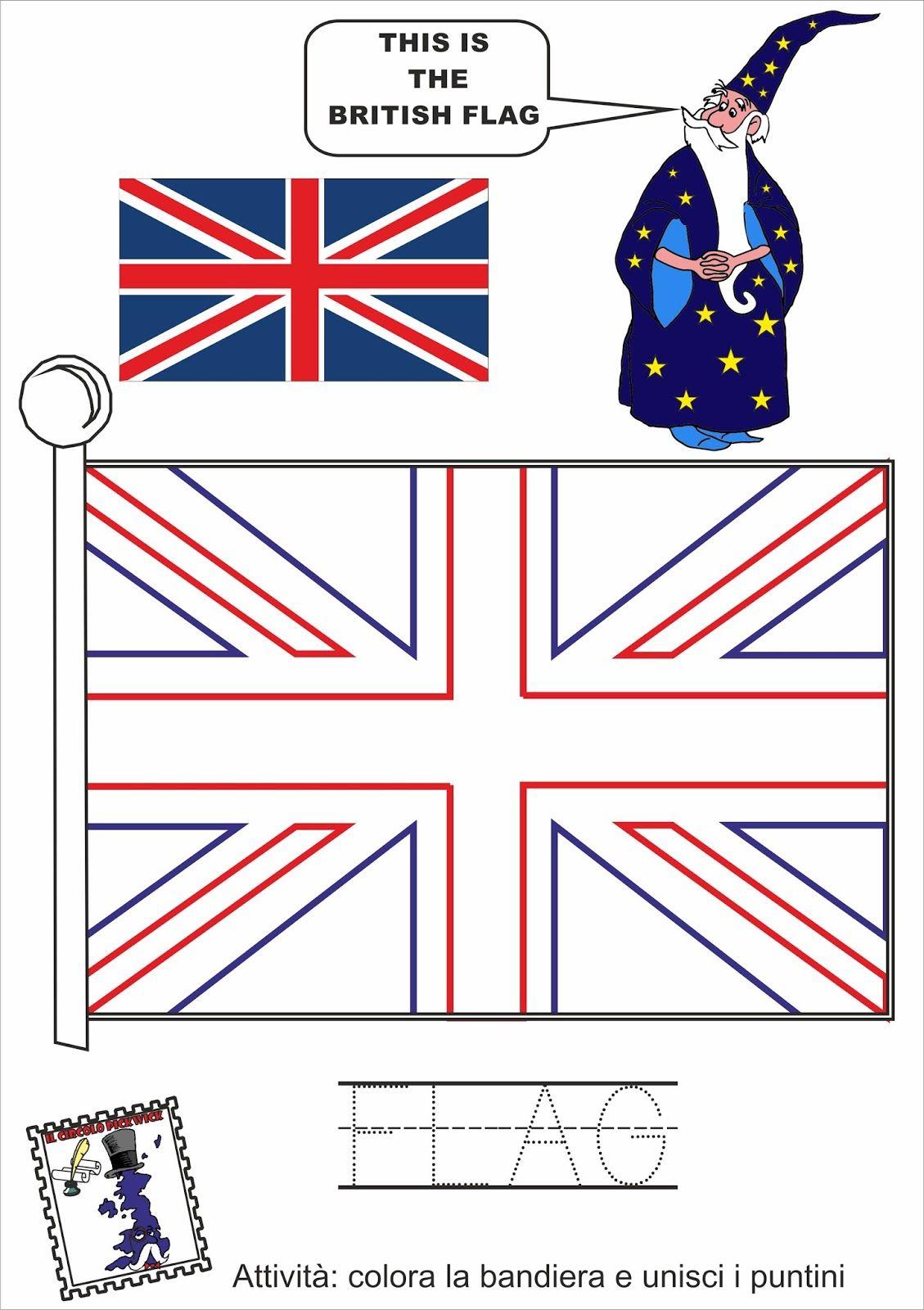Bandiera Inglese Da Colorare.Prima Tappa Conosciamo Il Mago Walter Imparare Inglese