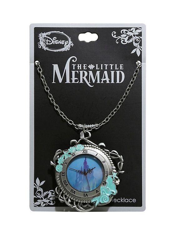 Disney The Little Mermaid Triton S Palace Pocket Watch Necklace Disney Jewelry Disney Princess Jewelry Pocket Watch Necklace