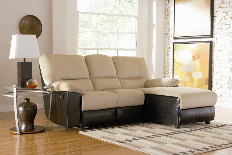 Best Recliner And Chaise Sofa In Tan Microfiber By Coaster 400 x 300