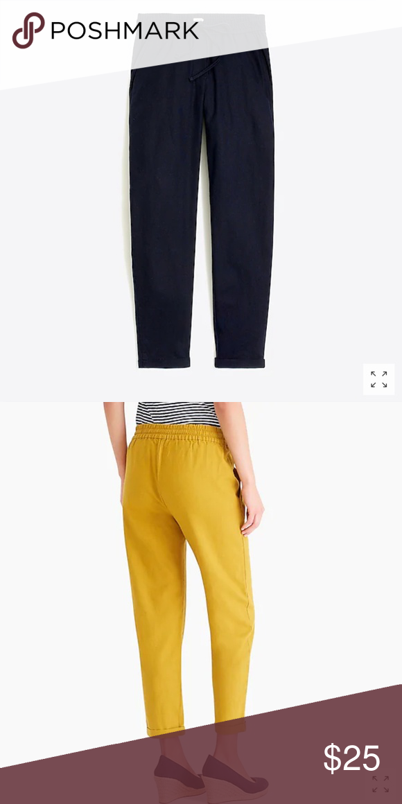 762c5e939c8 J. Crew Factory Linen-Cotton Drawstring Pant Linen cotton. Sits below waist