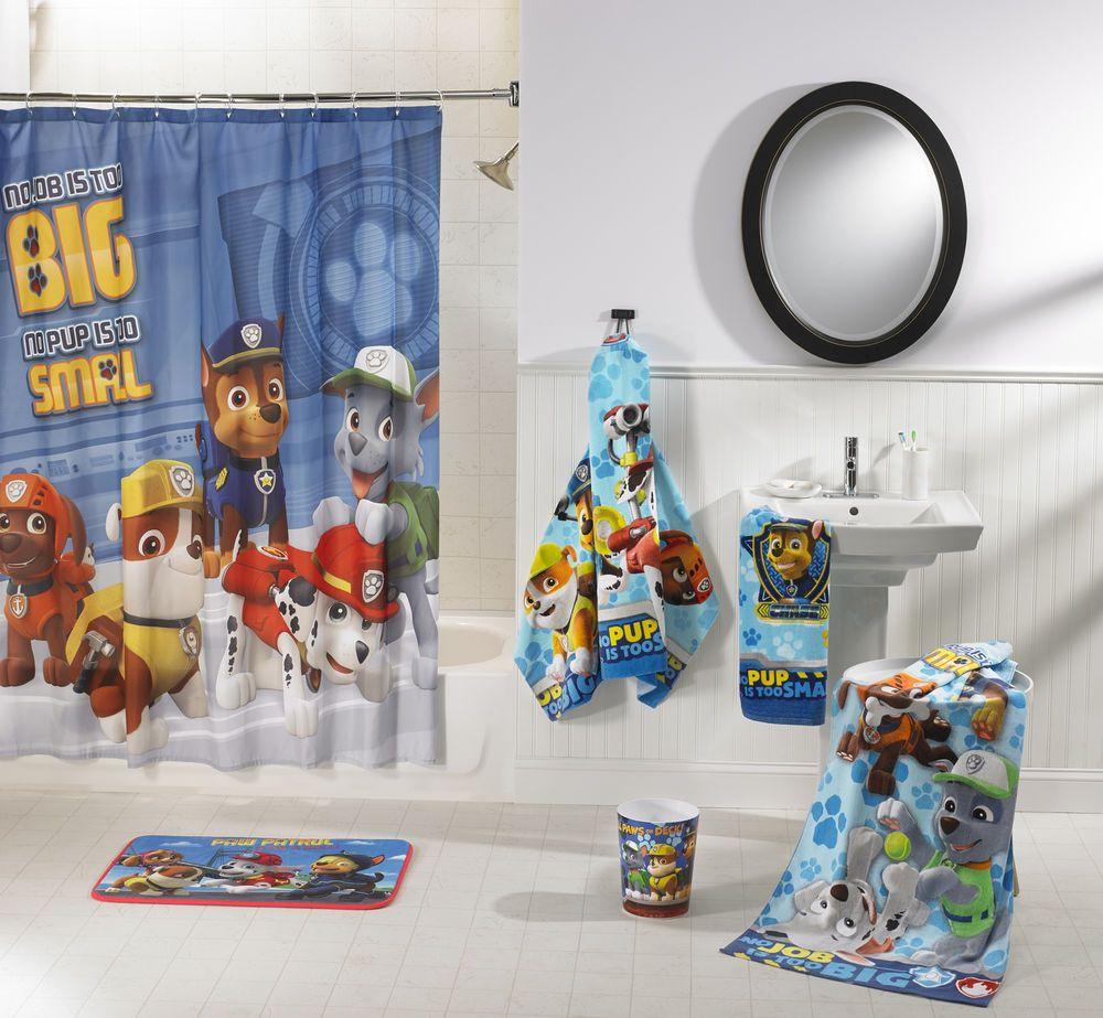 Bathroom In A Bag 5 Piece Set Paw Patrol Boys Furniture W Waste