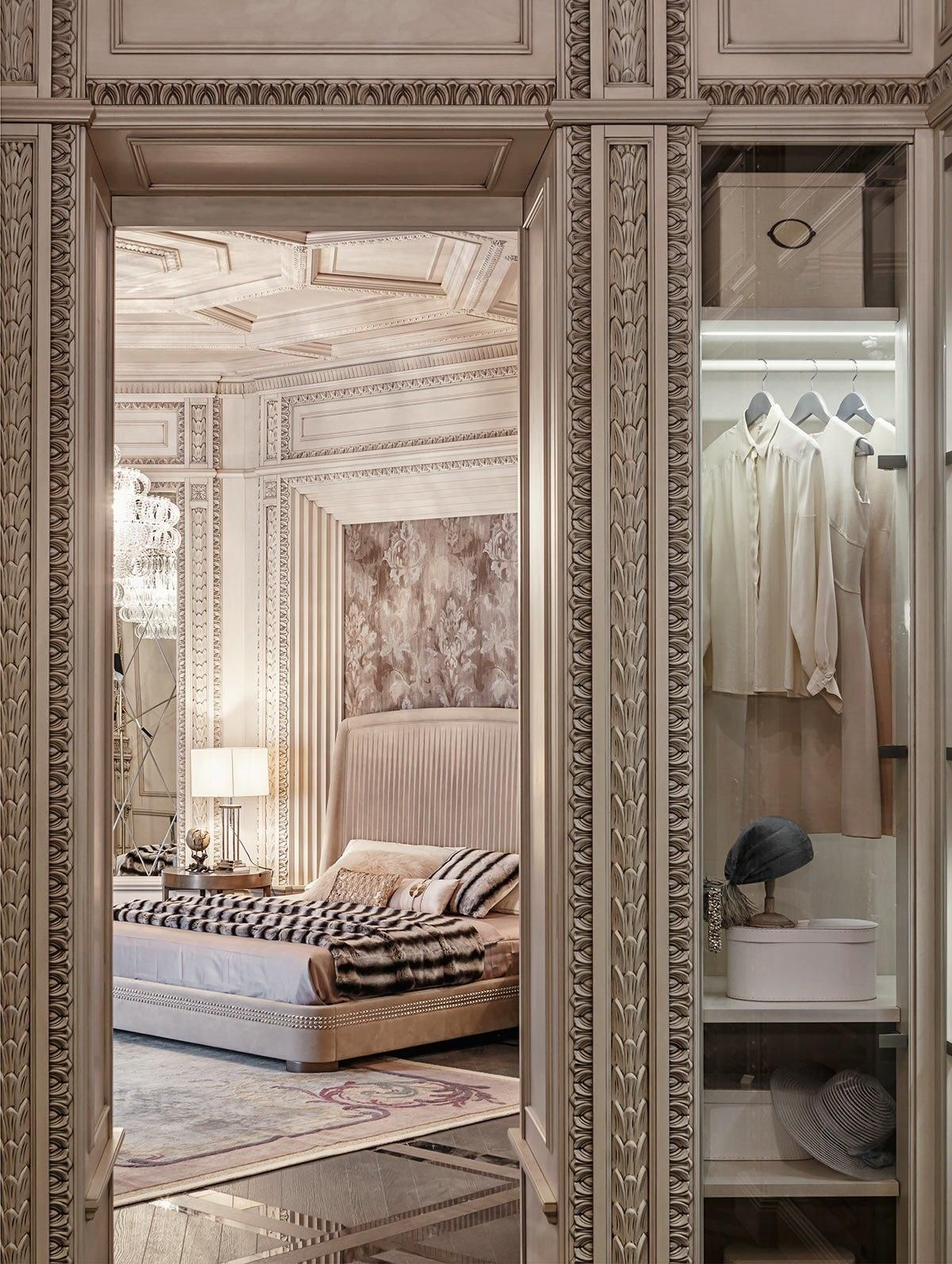 With so much emphasis on sleek modern spaces it   nice to enjoy  little extravagant inspiration from time the two homes explored below share many also neoclassical and art deco features in luxurious interiors rh pinterest