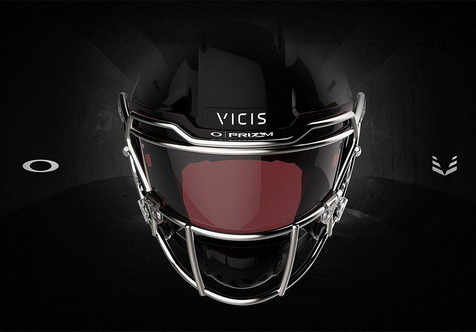 Oakley x vicis edge prizm shield football helmets