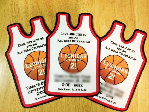 Basketball Invitations Jersey Birthday Invitations by aPartyaDay