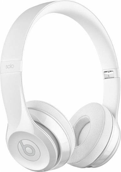 ab3ea2957a63e Beats by Dr. Dre - Beats Solo3 Wireless Headphones - Gloss White - Angle  Zoom