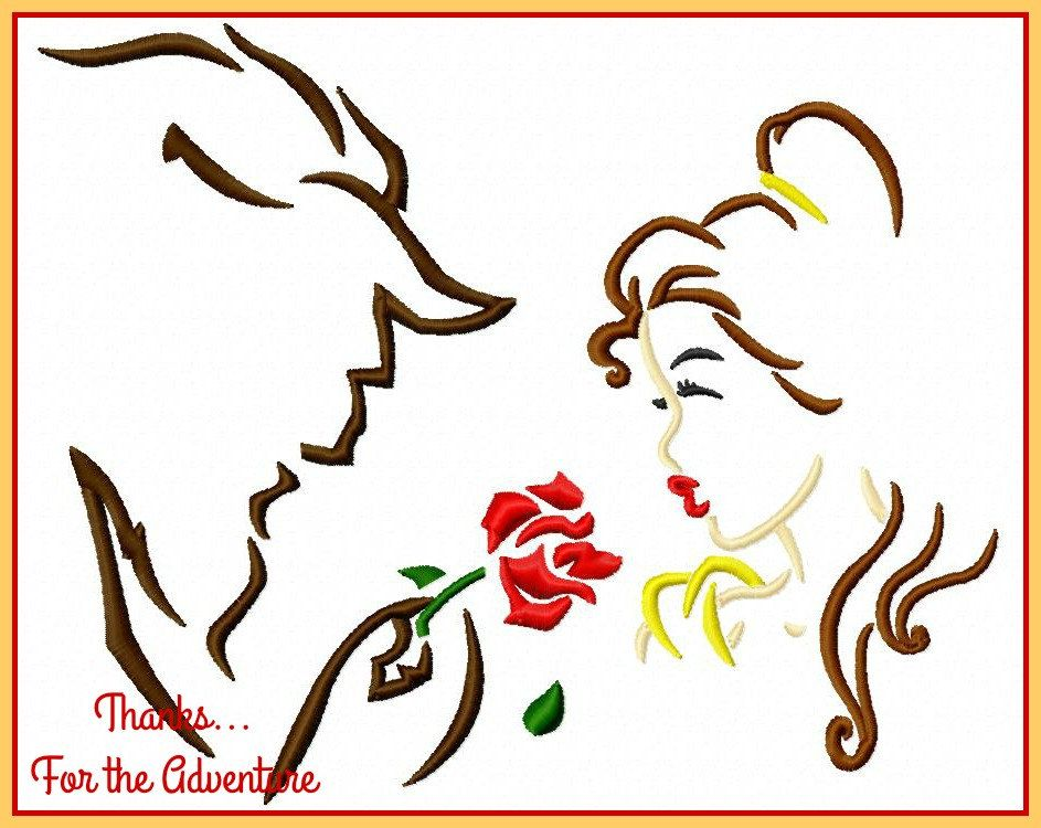 Princess Belle And The Beast With The Magic Rose From Beauty And The