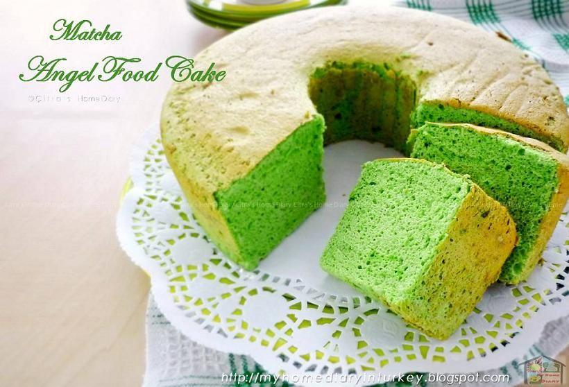 Citra S Home Diary Matcha Green Tea Angel Food Cake Recipe Resep Matcha Angel Food Cake Dari Putih Telu Cake Recipes Angel Food Chocolate Angel Food Cake