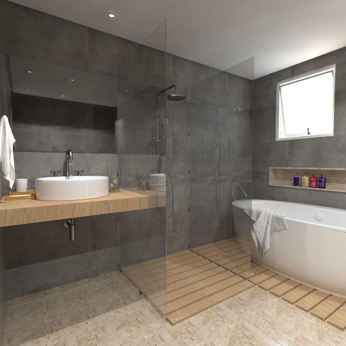 detailed bathroom | 3D model in 2020 | Small bathroom ...