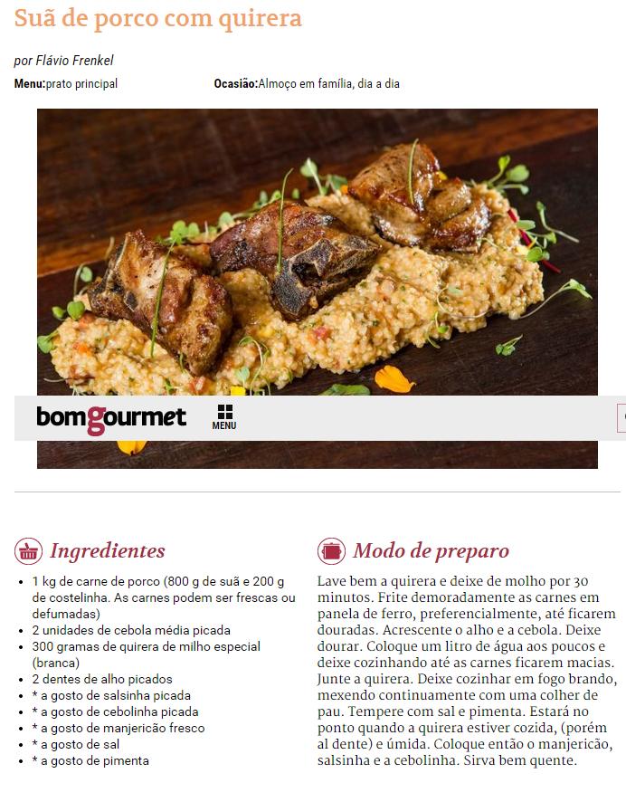Gazeta do Povo Online - 15/01/2015 Suã de porco com quirera